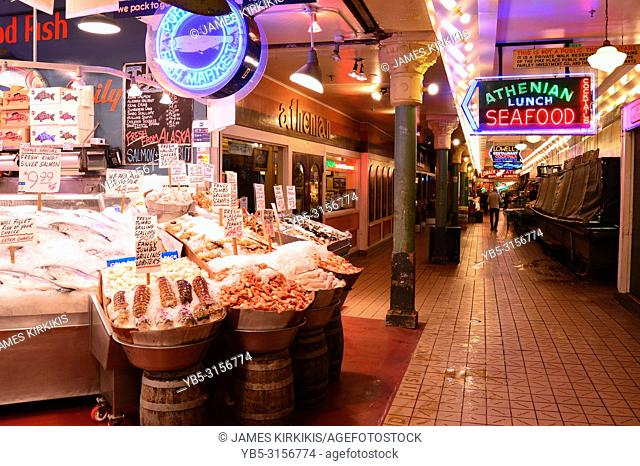 Early Morning Hours at Pike Place Market, Seattle