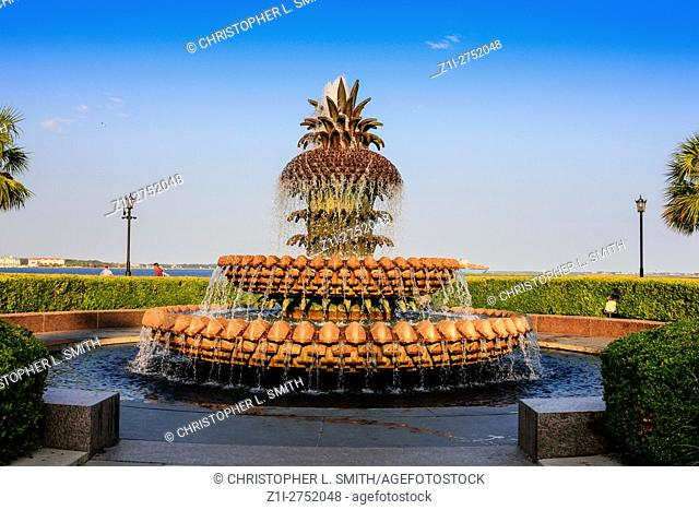 The Pineapple fountain in the Waterfront Park in Charleston SC