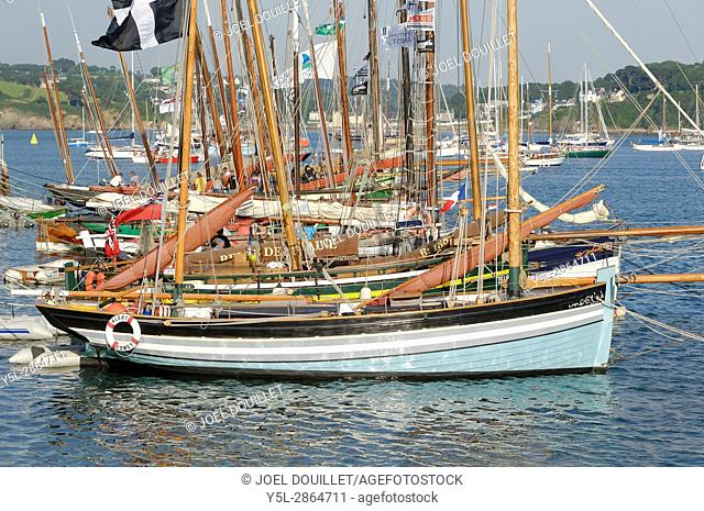 Gathering of traditional boats in Douarnenez (Finistère, Brittany, france)
