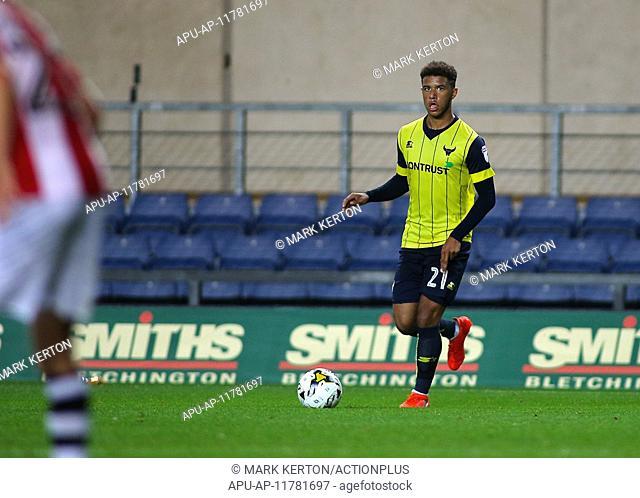 2016 EFL Trophy Football Oxford v Exeter City Aug 30th. 30.08.2016. Kassam Stadium, Oxford, England. EFL Trophy Football. Oxford versus Exeter City