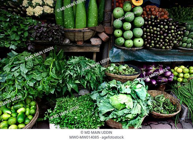 A vegetable shop Bangladesh October 4, 2007