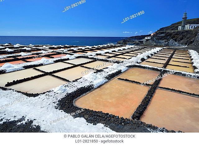 Salinas de Fuencaliente (salt evaporation ponds). La Palma. Canary islands