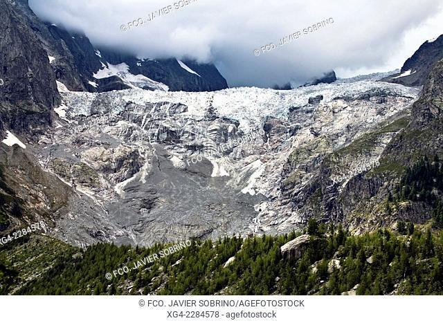 Glaciar de la Brenva – Macizo del Mont Blanc - Aosta – Alpes - Val d'Aosta – Italia – Europa