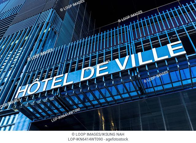 The New Hotel de Ville of Montpellier in the district of Port Marianne was designed by Jean Nouvel and Francois Fontes