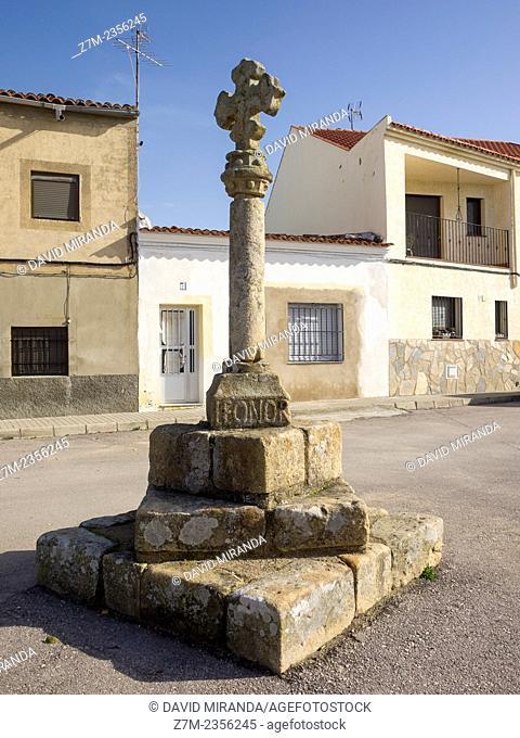 Stone cross, Garrovillas de Alconétar, Cáceres province, Extremadura, Spain