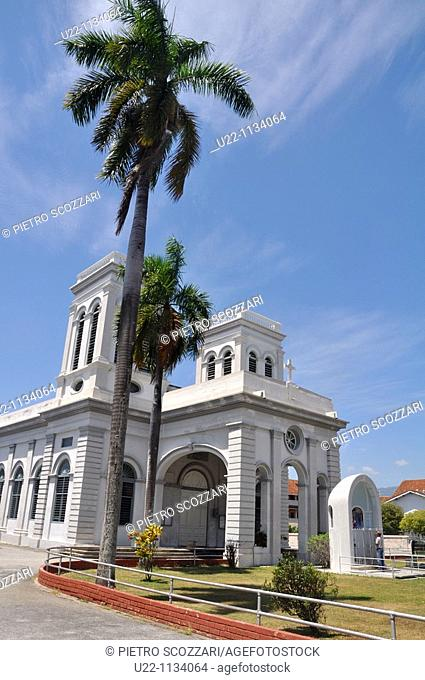 George Town, Penang (Malaysia): the Cathedral of the Assumption, along Lebuh Farquhar