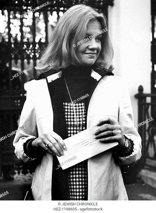Hayley Mills (1946- ). British Actress, 1972. The Committee for the Release of Soviet Jewish Prisoners demonstration at the Soviet embassy