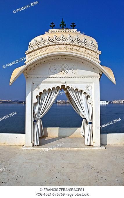 Waterfront Sitting Area at Jag Mandir Palace