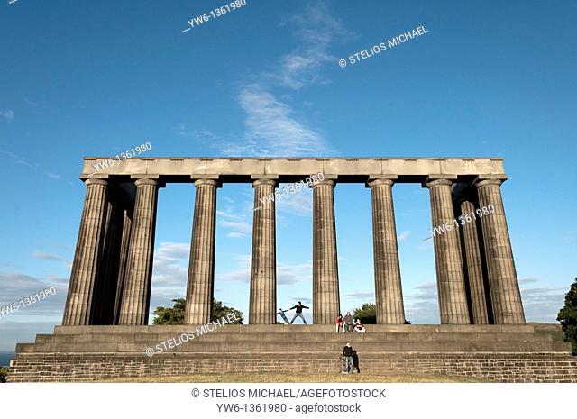 National Monument on Calton Hill,Edinburgh,Scotland