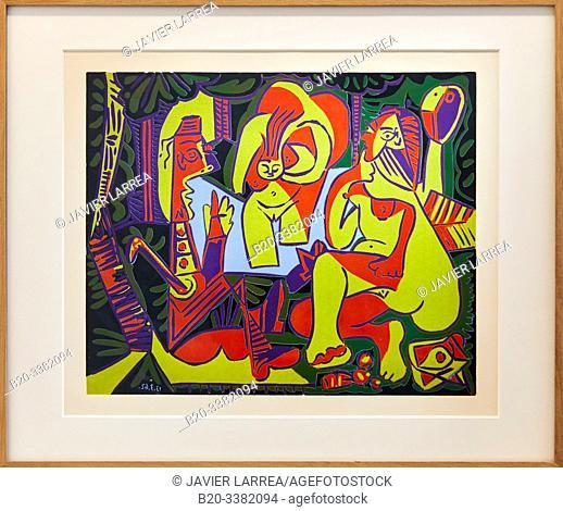 """""""Le Déjeuner sur l'herbe d'après Manet"""", 1962, Pablo Picasso, Picasso Museum, Paris, France, Europe"""