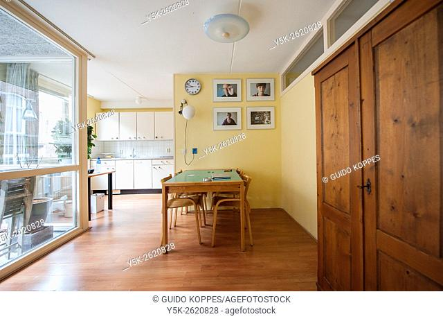 Tilburg, Netherlands. Interior main room of a down town apartment