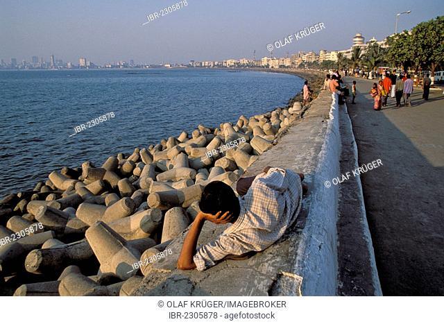 Marine Drive, Mumbai, also known as Bombay, Maharashtra, India, South Asia, Asia
