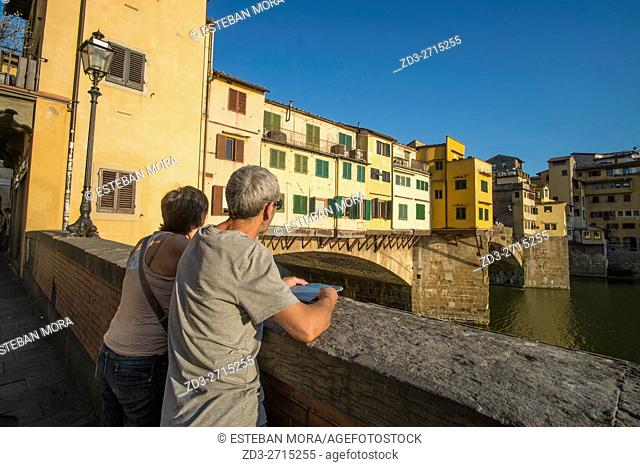 Ponte Vecchio over Arno River, Florence, Tuscany, Italy