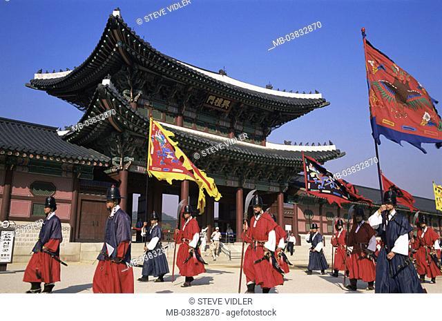 Korea, Seoul, Gyeongbokgung Palace, Entrance 'Heungnyemun', Watches, Wachablöse, , Series, Asia, Eastern Asia, South Korea, capital, Kyongbokkung Palace, palace