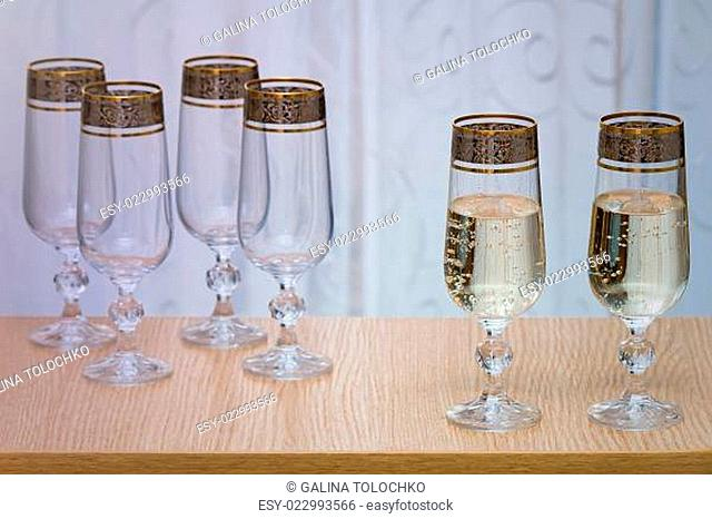 Water Pouring On Wine Glass Stock Photos And Images Age