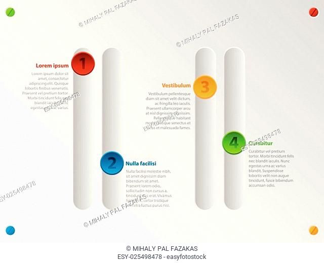 Cool color slider style infographic design with options