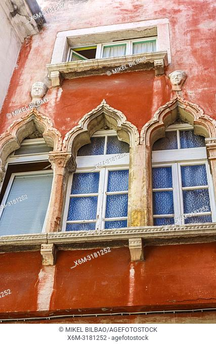 House facade. Piran. Slovene Istria region. Slovenia, Europe