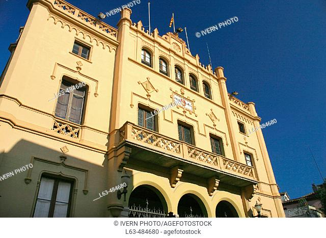 Town hall. Sitges, Barcelona province. Catalonia, Spain