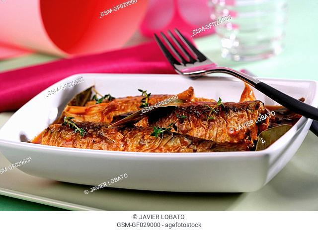Pickled sardines