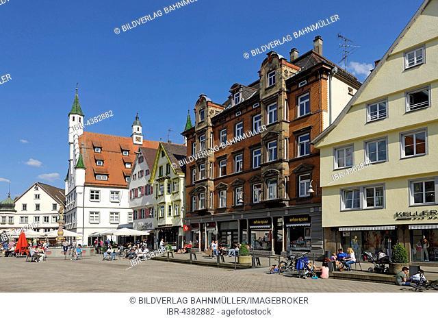 Marktplatz, Biberach an der Riss, Upper Swabia, Baden-Württemberg, Germany