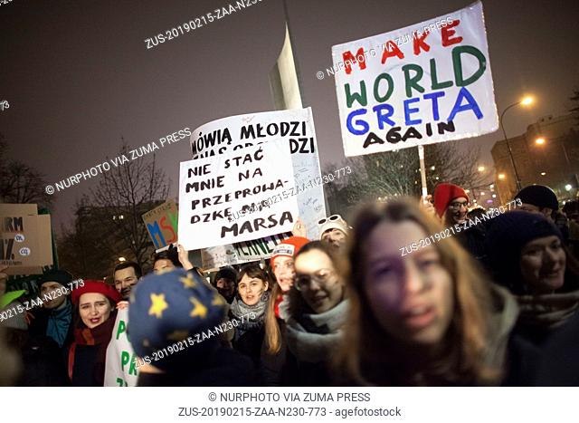 February 15, 2019 - Warsaw, Poland - Protesters of Earth strike seen in Warsaw on February 15, 2019. (Credit Image: © Maciej Luczniewski/NurPhoto via ZUMA...