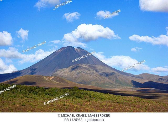 Mount Egmont volcano, also called Mount Taranaki, South Island, New Zealand