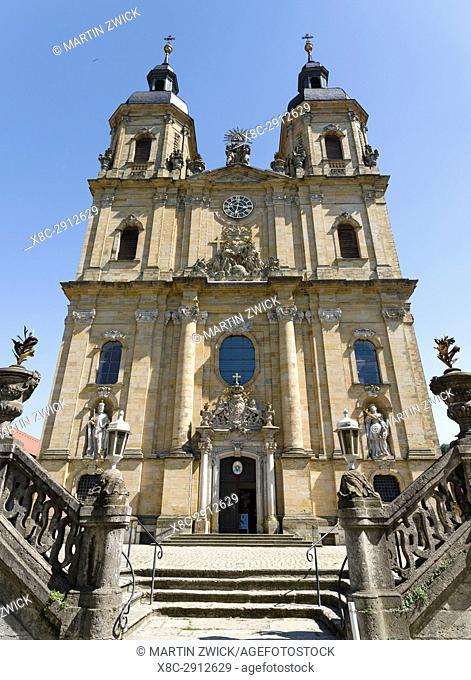 Basilica Goessweinstein, buildt by Balthasar Neumann. Goessweinstein the most important place of pilgrimage in Franconian Switzerland ( Fraenkischen Schweiz)