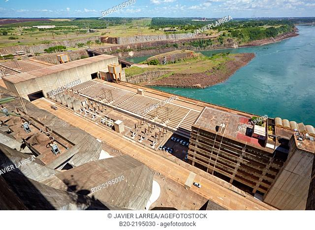 Itaipu Binacional Hydroelectric Power Plant. Generator of renewable clean energy. Itaipu Dam. Foz do Iguaçu. Paraná. Brazil