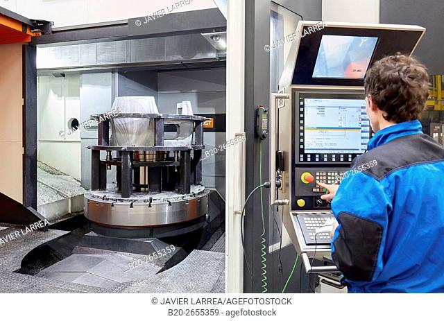 Machining Center. CNC. Vertical lathe. Machine Tools Company. Gipuzkoa . Basque Country. Spain. Europe