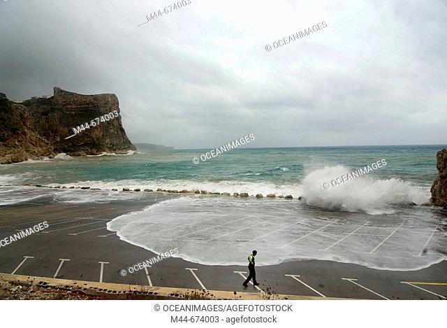 Storm, Benitatxell. Alicante province, Comunidad Valenciana, Spain