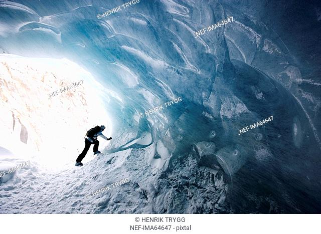 Ice cave Mer de Glace Chamonix France