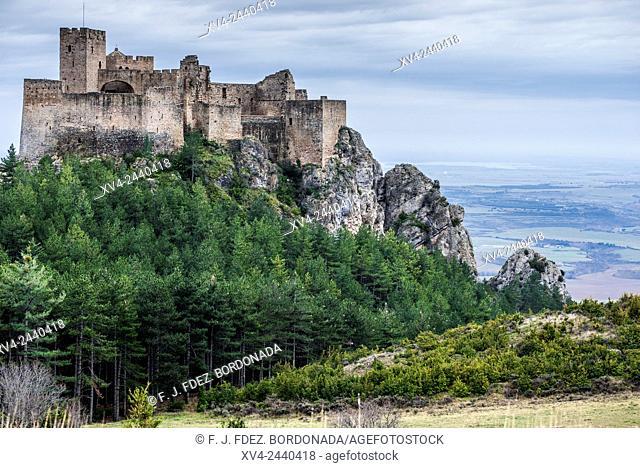 Loarre mediaeval Castle, 11th century. Huesca, Aragon, Spain