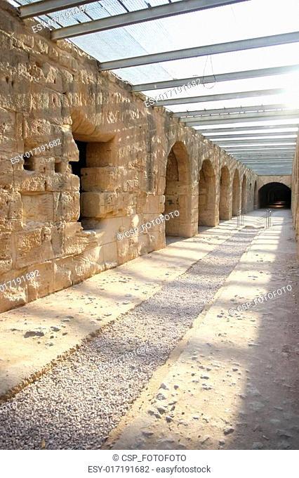 El Djem Amphitheatre, underground