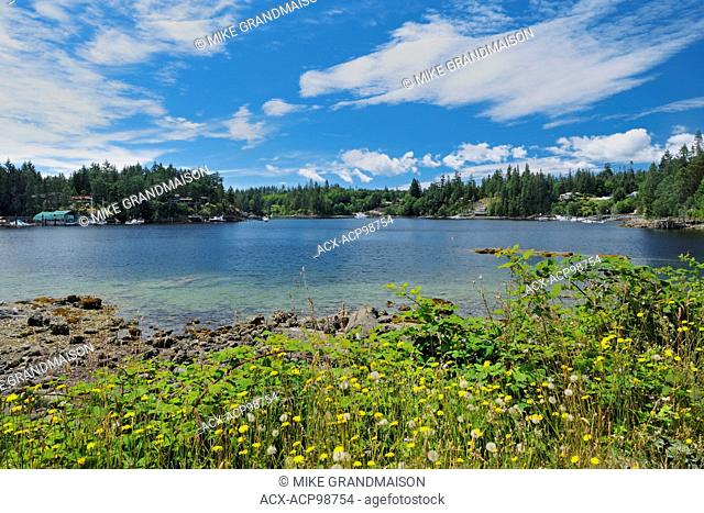Pender Harbour on the east side of Malaspina Strait. The Sunshine Coast British Columbia Canada