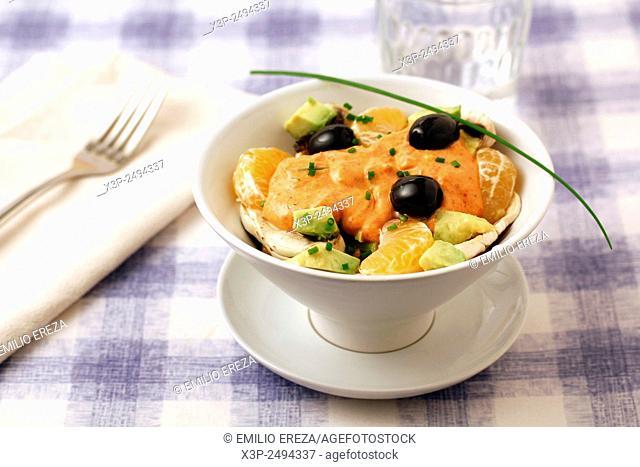 Mushrooms and fruit salad