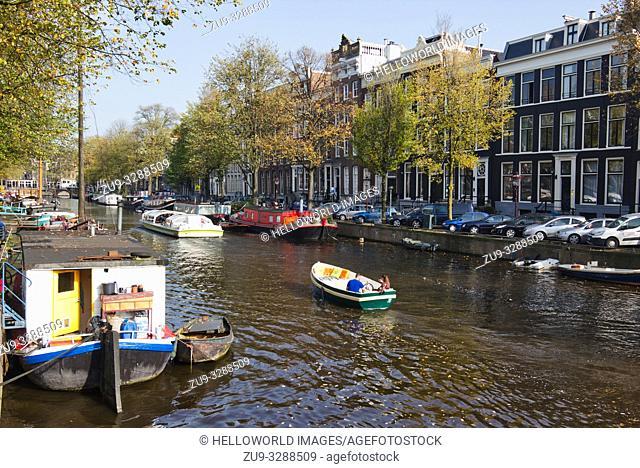 Canal scene, Amsterdam, Netherlands