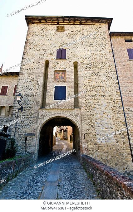 medieval village, savignano sul panaro, emilia romagna, italy