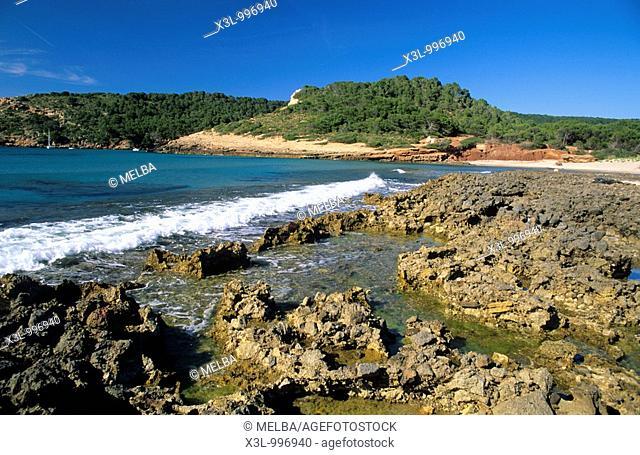 Beach or Cala Algaiarens  Cutadella  Minorca  Balearis islands  Spain
