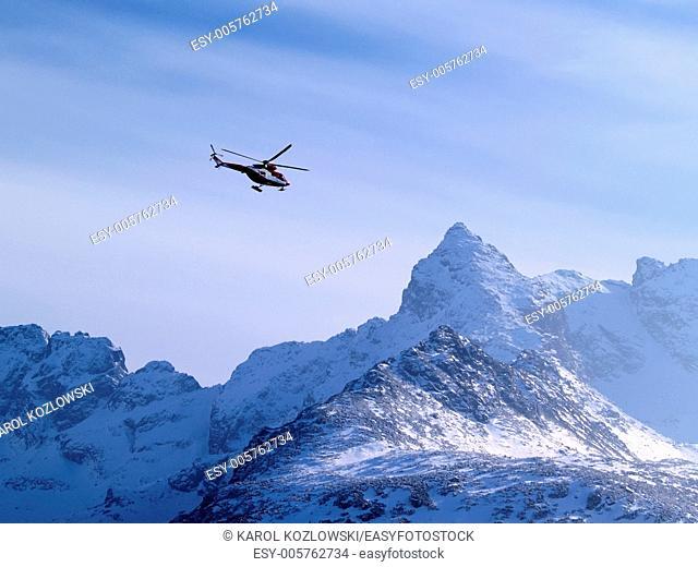 Rescue Helicopter, Tatra Mountains, Poland