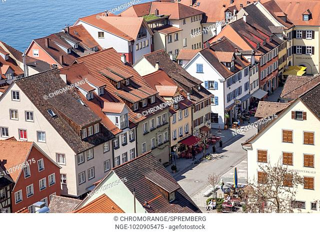 Look on the small town of Meersburg on Lake Constance