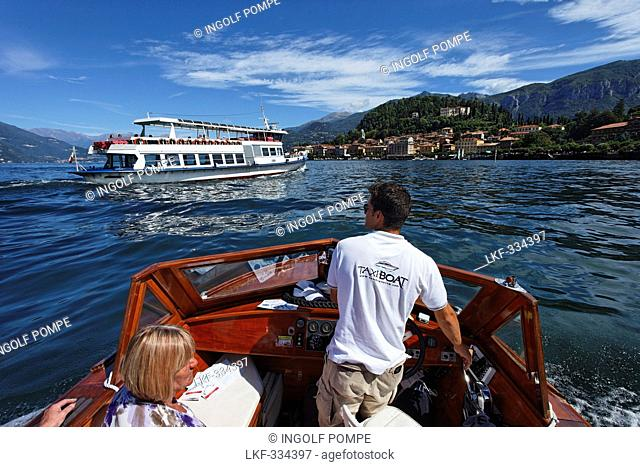 Excursion boats, Bellagio, Lake Como, Lombardy, Italy