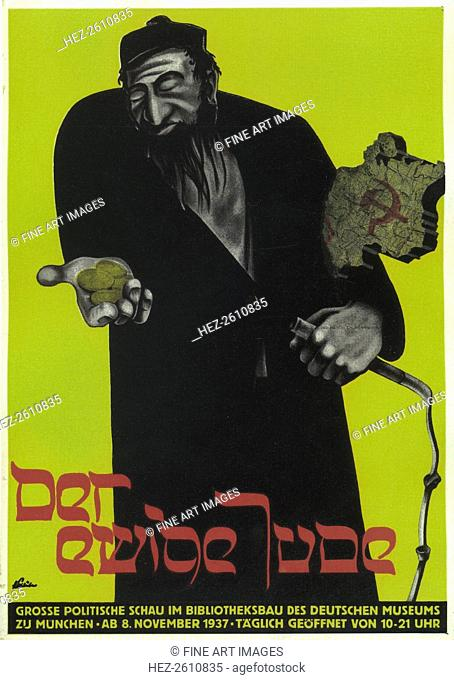 Poster for the antisemitic film The Eternal Jew, 1937. Artist: Stalüter, Hans (active 1930s)