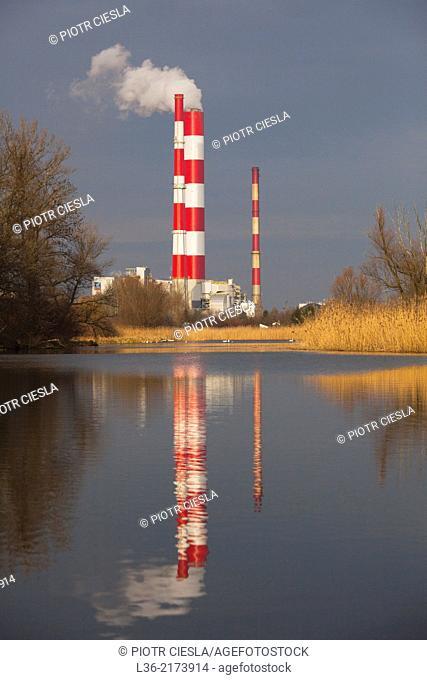 Warsaw. Siekierki power plant