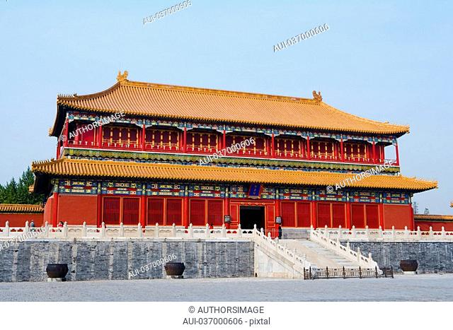 China - Beijing PÚkin - Forbidden City - The Rightness Gate Duanmen - The Palace of Supreme Harmony Taihemen