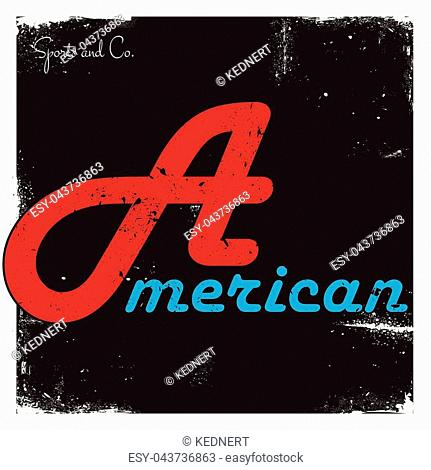 American Vector Graphics and typography t-shirt design for apparel
