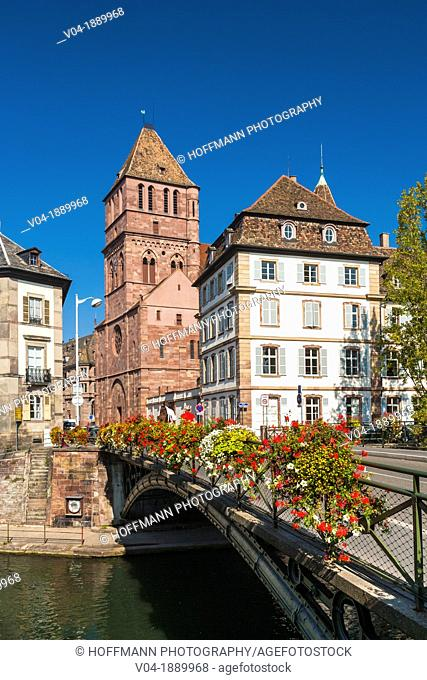 Historic St. Thomas church in Strasbourg, Alsace, France, Europe