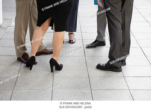 Close up of business people's shoes