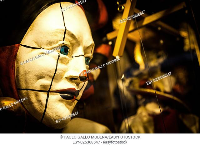 Detail of a traditional Venetian Mask - Venice, Italy