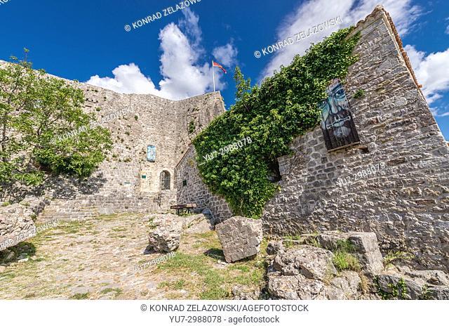 Fortress in Stari Bar (Old Bar) - small town near Bar city, part of Bar Municipality in southern Montenegro