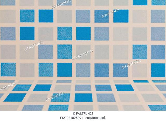 blue and white tile ceramic wall background